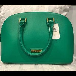 Joy & IMAN 22-Section Luxe Genuine Leather Handbag